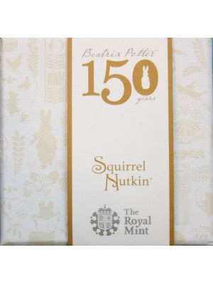 2016 Squirrel Nutkin Silver Proof 50p Coin Beatrix Potter Series